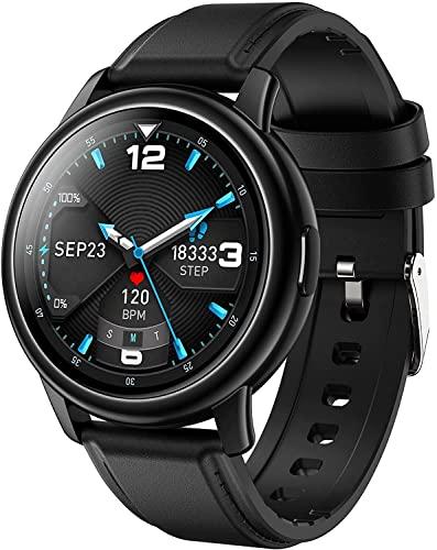 PKLG Reloj inteligente, rastreador de actividad, pantalla táctil con control de frecuencia cardíaca y presión arterial, IP67 impermeable, compatible con Android IOS (C)(D)(F)