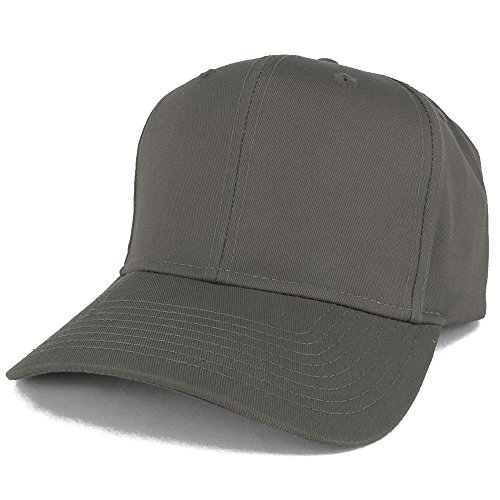 Armycrew XXL Oversize High Crown Adjustable Plain Solid Baseball Cap - Charcoal Grey