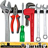 17' Heavy-Duty Magnetic Tool Holder (Upgraded Version) - Extremely Powerful Magnetic Pull Force to Hold Heavy Tools - Professional Space-Saving Magnetic Tool Bar - Metal Tool Organizer Rack/Strip