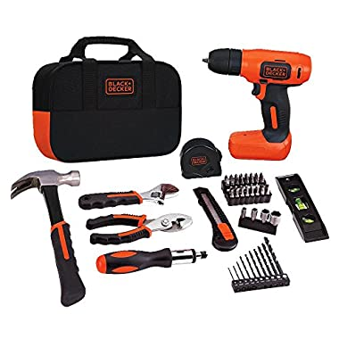 Black & Decker BDCD8PK Drill Project Kit, 8V