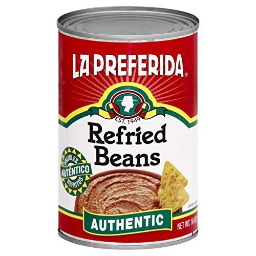 La Preferida Refried Pinto Beans, Authentic, 16 oz (Pack of 6)