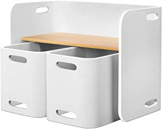 Keezi 3 PC Nordic Kids Table Chair Set White Desk Activity Compact Children