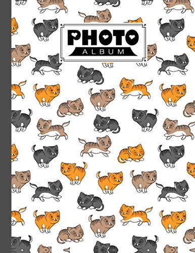 Photo Album: Funny Cats Album  Large Photo Albums with Writing Space Memo  Extra Large Capacity Picture Album  Family  Baby  Wedding  Travel Photo Book  120 Pages  Size 8.5  x 11