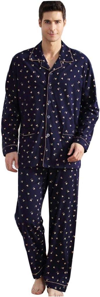 Pijamas Hombre Primavera Y Otoño De Manga Larga Conjunto Ropa ...