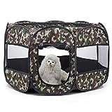 ABCD Parque para Mascotas Plegable, Tienda Extraíble para Perros/Gatos/Conejos,...