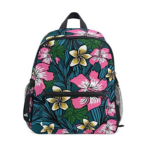Alino - Mochila escolar con diseño de flores polinesias para niños y niñas