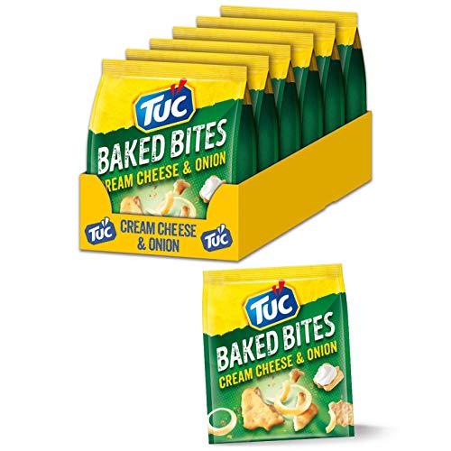 TUC Baked Bites Cream Cheese & Onion 12 x 110g, Kleine Cracker mit Sauerrahm-Zwiebel Geschmack