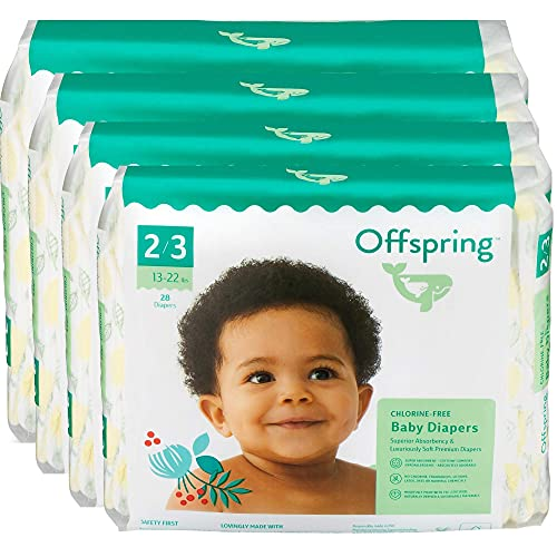Offspring Disposable Diapers, Earth Friendly, Premium Ultra Soft, Double Leak Guard Protection