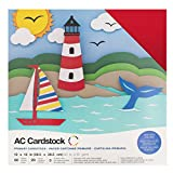American Crafts 376982 Cardstock Variety Pack Primaries 60 Sheets of 12 X 12