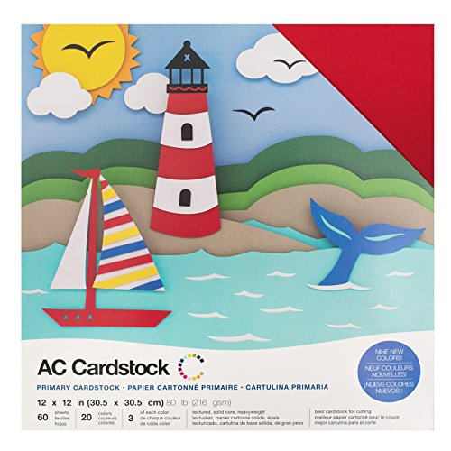 American Crafts Kit de Scrapbooking Primaries Cardstock 30x30cm
