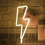 LED-Blitz Zeichen formten Dekor-Licht-warmes Weiß Neon-Wand-Licht-Wand-Dekor-Blitz Neonlichter...