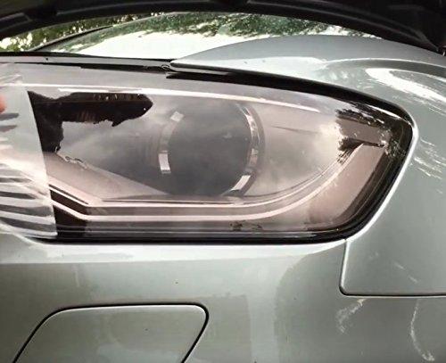 Scheinwerfer Folie Hellschwarz 200cm x 0,30cm Dunkle Folie Vinyl light Black headlight Tuning Folie, Dunkle Rückleuchten Auto Frontscheinwerfer