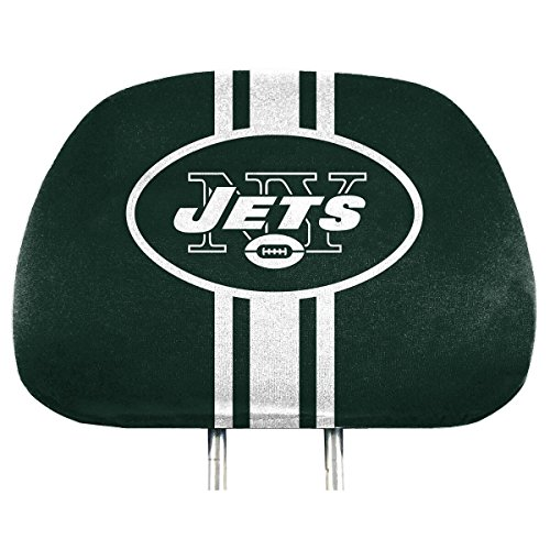 FANMATS NFL - New York Jets 2 Piece Full Color Headrest Cover Set, One Size (62022)