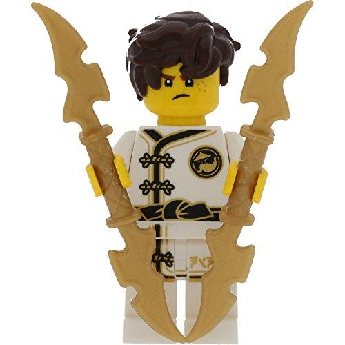LEGO Ninjago Minifigur: Jay im weißen Kimono (White Wu-Cru Training Gi) und Schwertern