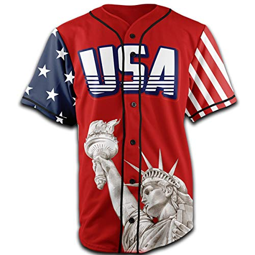 Greater Half Jersey: Liberty Edition Red America #1 Jersey (XL)