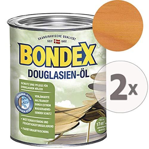 Gardopia Sparpaket: Bondex Douglasien-Öl 7123 Schutz Pflege & Farbauffrischung, 2 x 750 ml