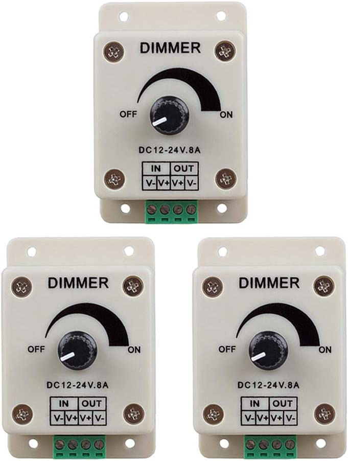 AITRIP 3PCS PWM Dimmer Controller DC - 24V Max 67% OFF Now on sale Knob ON 12V 8A
