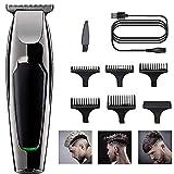 Cortapelos, barberos y afeitadoras corporales,Recortadora 9 en 1, Máquina recortadora de barba, set de depilación corporal y cortapelos para hombre (Negro)