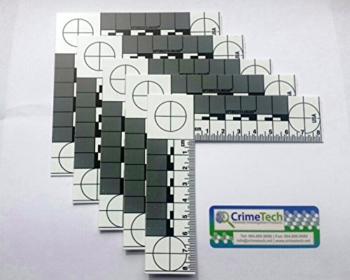Forensic ABFO No. 2 Photo Scales, Metric, Pack of 5 EA