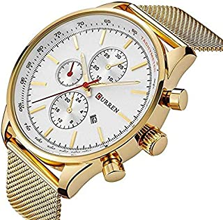 Curren Casual Watch For Men Analog Gold - 8227