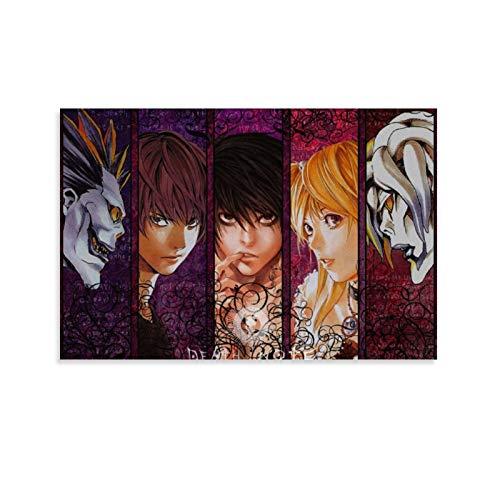 Death Note L Rem Light Yag Poster sur toile et décoration murale 20 x 30 cm