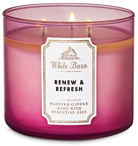 White Barn Bath & Body Works RENEW & REFRESH 3-Wick Scented Candle 14.5 oz / 411 g