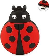 FIRSTMEMORY 128GB USB 2.0 Flash Drive Novelty Animal Ladybug Shape Thumb Drive Cartoon Memory Stick Cute Pendrive Jump Drive Gifts