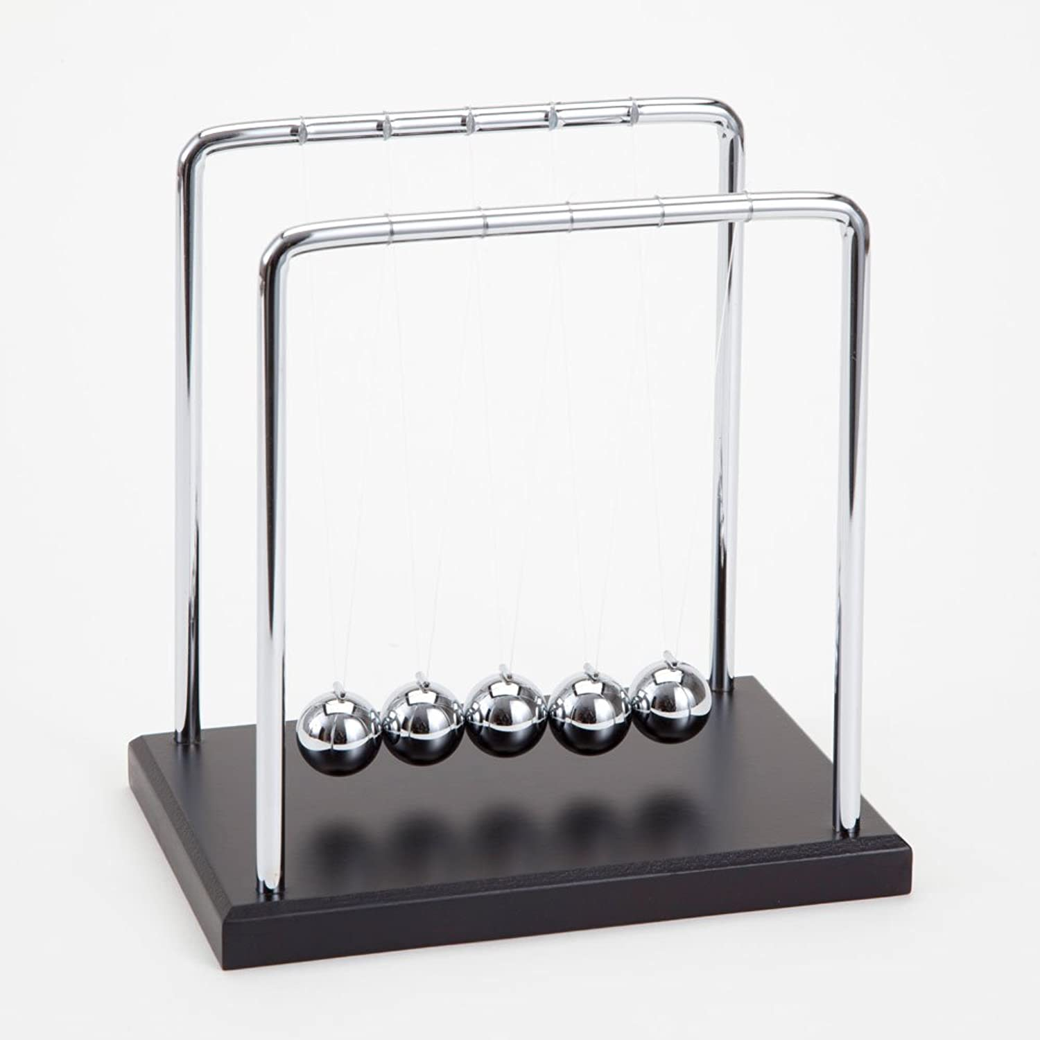 Bits and Pieces  Newton's Cradle  Iconic Isaac Newton Kinetic Toy  Office Desktop Gift  51 2 wide x 51 2 deep x 53 4 tall