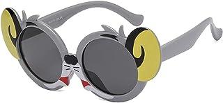 GWQDJ - Gafas De Sol Polarized Kids, UV400 Protección Moda Cómodas Gafas Silicona Flexible Marco para Niños Y Niñas Edad 3-12