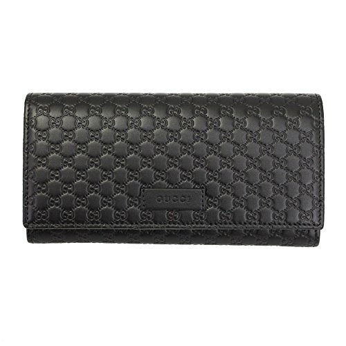 Gucci Micro Guccissima Black Leather Long Wallet 449396 Bmj1g 1000