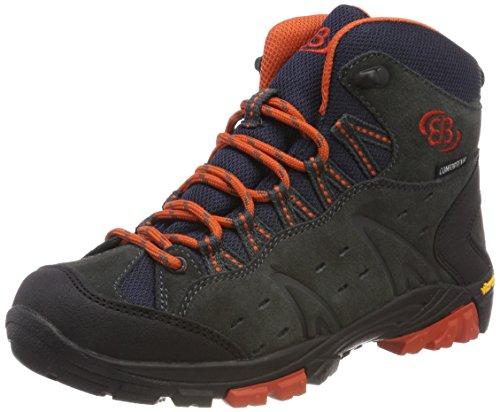 Brütting Unisex-Erwachsene Mount BONA HIGH Kids Trekking- & Wanderstiefel, Grau (Anthrazit/Orange), 36 EU