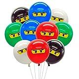 Meuparty Ninja Luftballons Partydekorationen für Jungen 1. 4. 5. 6. 7. Geburtstag...