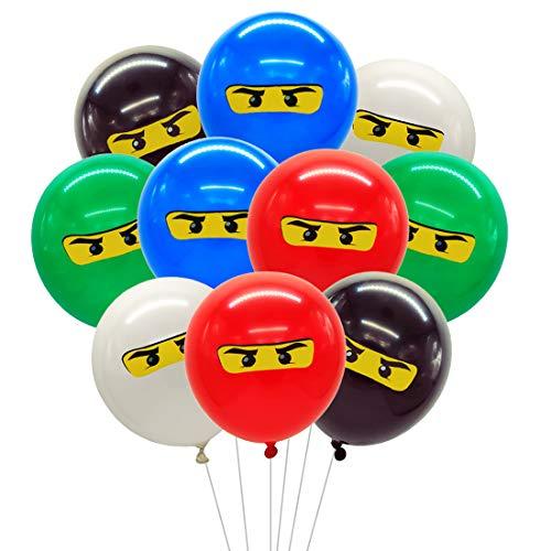 Meuparty Ninja Luftballons Partydekorationen für Jungen 1. 4. 5. 6. 7. Geburtstag Ninja-Partyartikel im 30er-Pack
