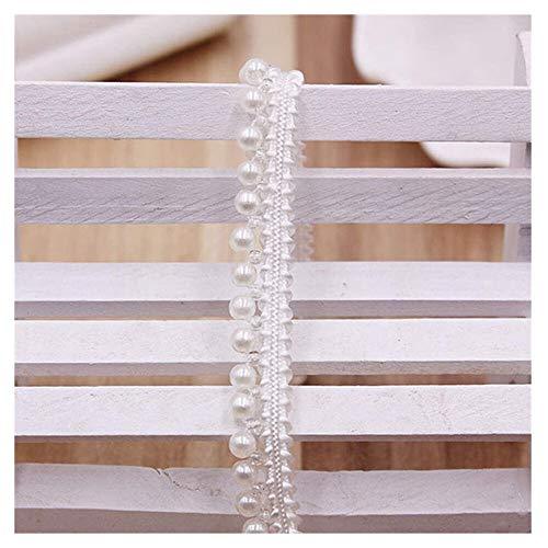 KAERMA Weiße nachgemachte Perlen-Band-Spitze-Wulstige Spitze Brautkleid Rock Taschen Mützen Socken Applikationen 4Styles Über 0.9m 1PC Wohnaccessoires (Size : 3)