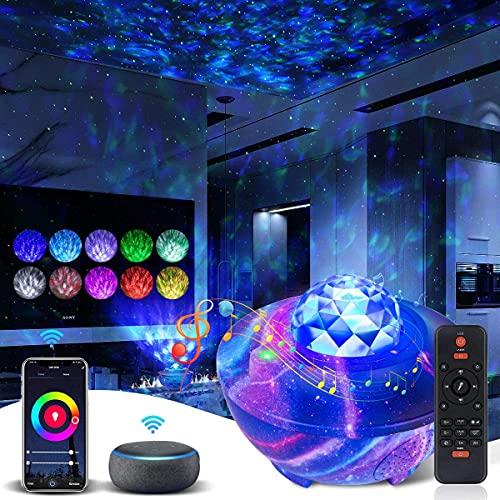 Star Projector Galaxy Projector Galaxy Light for Bedroom Galaxy 360 Pro Projector Bluetooth Speaker Work with Alexa&Google Assistant Galaxy Globe Projector Galaxy Cove Projector for Bedroom Adult Kid