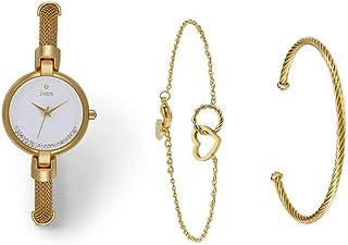 طقم ساعة زايروس للنساء بانالوج معدني -SZAA078L010111