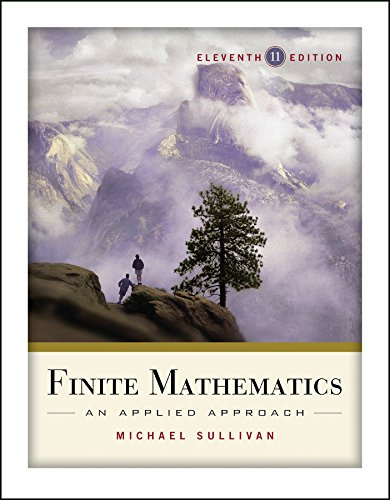 Compare Textbook Prices for Finite Mathematics: An Applied Approach 11 Edition ISBN 9780470458273 by Sullivan, Michael