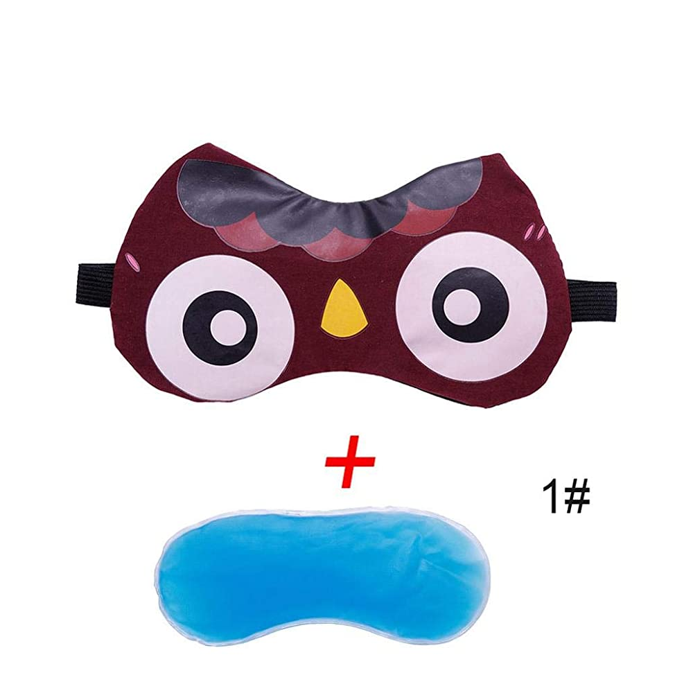 下に用心常習者NOTE 眠っているアイマスク冷却かわいい漫画ディープダークサークルを和らげるリラックスジェルアイスアイシェードアイパッチ用睡眠アイカバー#280021