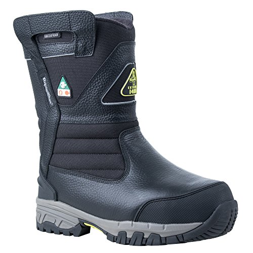Price comparison product image RefrigiWear Men's Extreme Pull-On Insulated Waterproof 8-Inch Freezer Work Boots (Black,  Size 12 US)