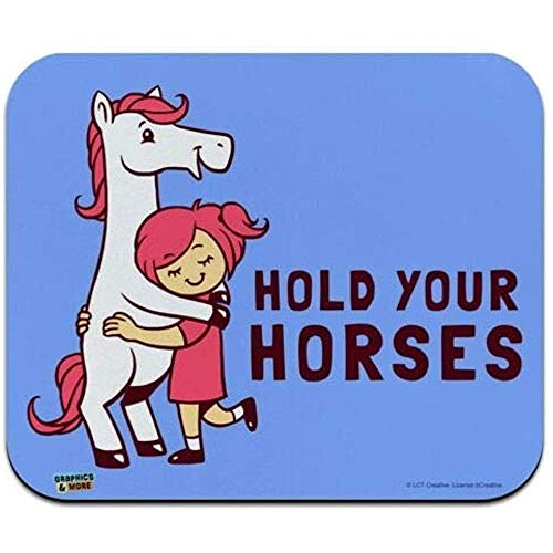 Muis Mat, Houd Uw Paarden Grappige Humor Laag Profiel Dunne Muis Pad Mousepad, Gaming Mouse Pad