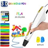 3D Printing Pen,DigiHero Intelligent 3D Printer Drawing Pen Compatible with 1.75mm PLA/ABS Filament,12