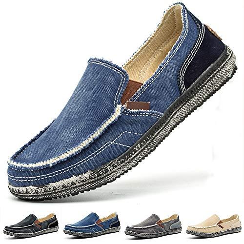 Zapatos de Lona a la Moda para Hombre, Mocasines, Zapatos Planos Informales, Zapatos de Guisantes, Zapatos de conducción, Zapatos de Cubierta de Barco