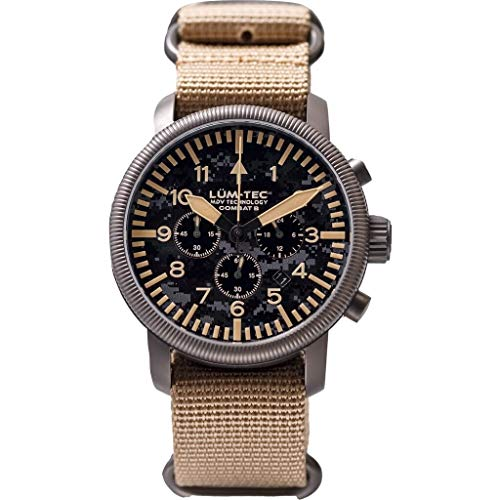 Lum-Tec Combat B44 Camo Chronograph Wrist Watch - Camo - Nylon Strap