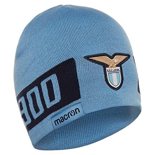 Macron SS Lazio Rom - Gorro de punto de acrílico para aficionados, accesorios de invierno, gorro de ocio, estadio, unisex, color azul claro y azul oscuro, talla adulto