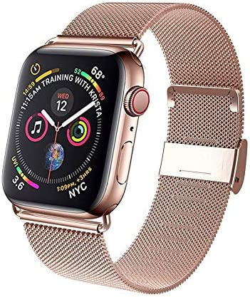 TVP Milanese Adjustable Stainless Steel Mesh Loop Replacement Band Compatible for i Watch 38 product image