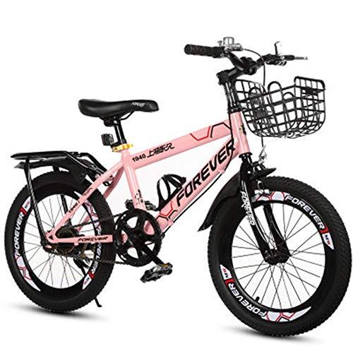 Axdwfd Kinderfiets, 18 inch, kinderfiets, mountainbike, variabele snelheid, voor jongens en meisjes