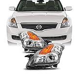 Fits 2007 2008 2009 Altima Sedan Driver & Passenger Both Side Halogen Headlights Headlamps...