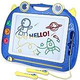 peradix grande lavagna magnetica per bambini(41.3*32cm)-tavola da disegno cancellabile lavagnetta magica- giocattolo educativo e creativo a 4 colori -3 stampini 2 penna-regali di compleanno di natale