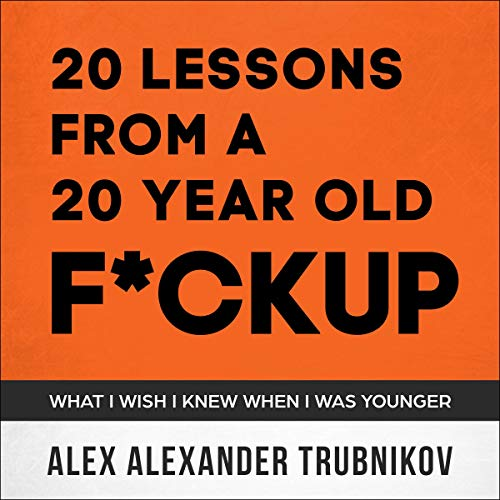 『20 Lessons from a 20-Year-Old F*ckup』のカバーアート