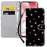 Yoedge Handyhülle für Xiaomi Mi 10T Lite 5G Lederhülle,Schwarz Premium Leder Flip Hülle mit Modisch Muster Brieftasche Klapphülle Handytasche Hülle für Redmi Note 9 Pro 5G 6,67